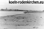 Köln Rodenkirchen: Niedrigwasser