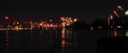 Feuerwerk am Rheinufer
