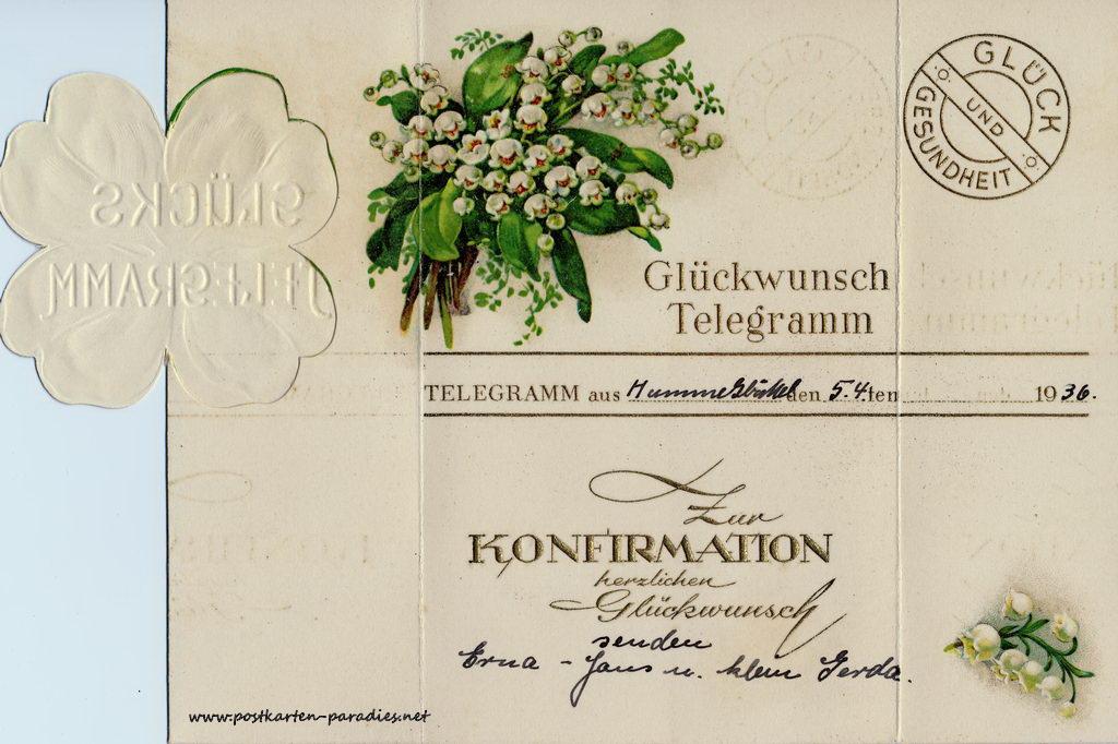 Konfirmationskarten um 1900