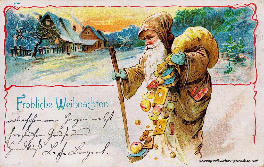 Weihnachtskarten mit kindern und weihnachtsmann alte postkarten - Bilder weihnachtskarten ...