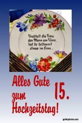 Karte 15. Hochzeitstag Kirstallhochzeit Gedicht