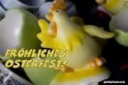 Osterkarte, Hahn