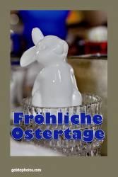 Osterkarte,, Osterhase