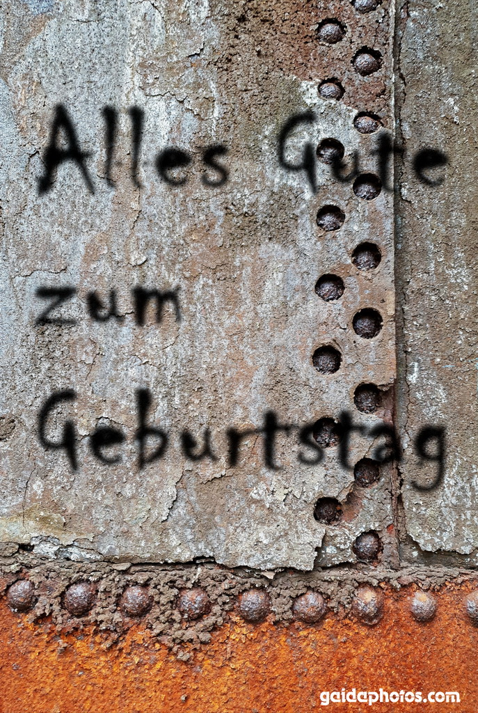 Geburtstagskarte, Graffitti