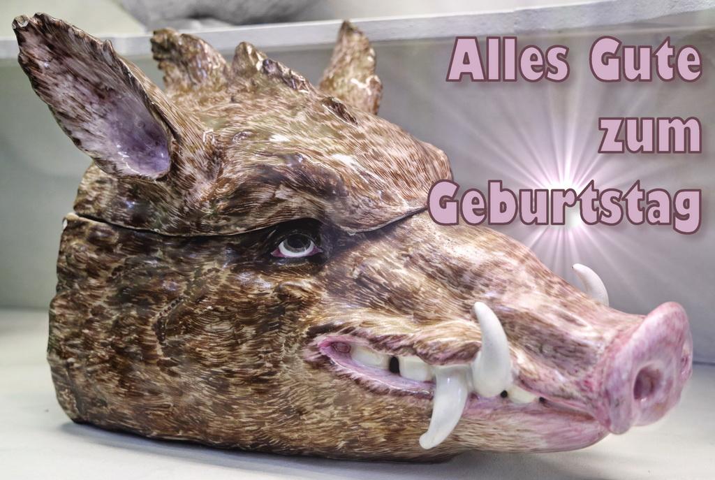 Geburtstagskarte, Schwein, Wildscwein