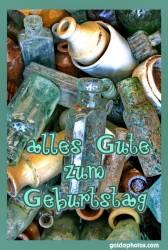 Geburtstagskarte, Flasche, Römerzeit