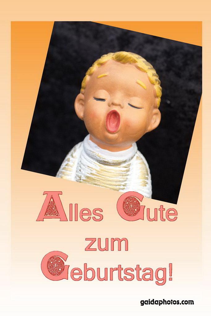 Geburtstagskarte Engel singt