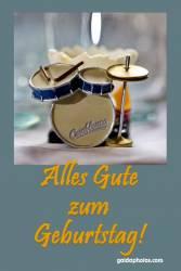Geburtstagskarte Schlagzeug