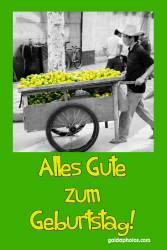Geburtstagskarte Zitrone