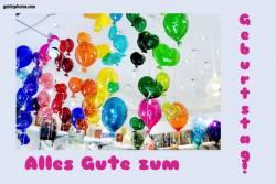 Karte zum Geburtstag, Luftballon