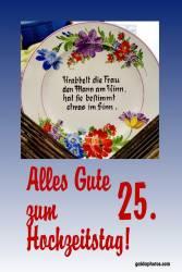 25 Hochzeitstag Karten Gedicht