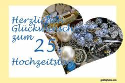 25 Hochzeitstag Karten Herz Schmuck