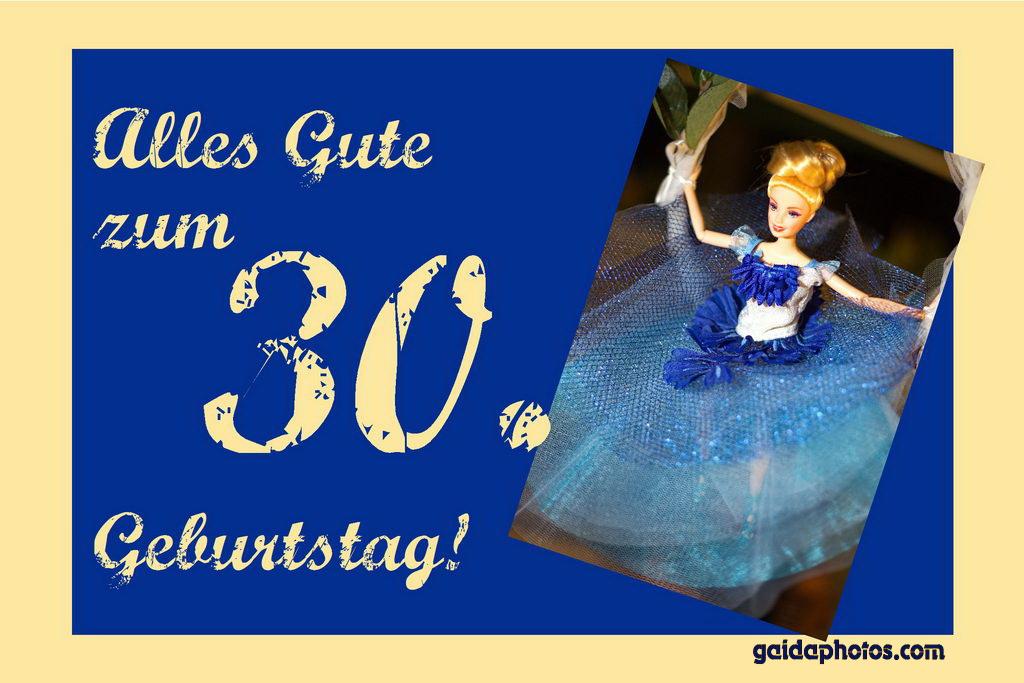 Karte 30. Geburtstag Barbie