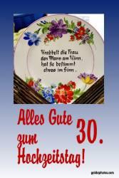 Karte 30. Hochzeitstag Gedicht