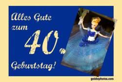 40. Geburtstag Karte Barbie