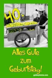 40. Geburtstag Karte Zitronen