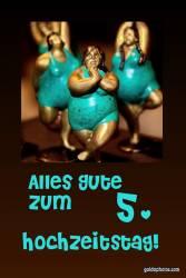 6. Hochtzeitstag Hochtzeitskarte Tänzerin