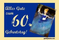 60. Geburtstagskarte Barbie