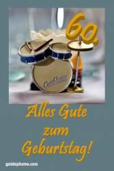 60. Geburtstagskarte Schlagzeug