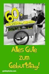 60. Geburtstagskarte Zitrone