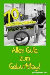 70. Geburtstag Karte Zitrone