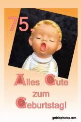 Karte 70. Geburtstag Engel singt