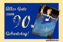 90. Geburtstagskarte Barbie