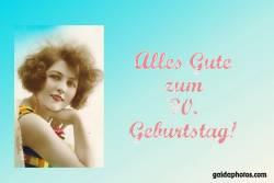 90. Geburtstagskarte Frau Antik