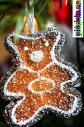Weihnachtsbilder für Weihnachtskarten, Bärchen, Plätzchen