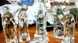 Desktop Hintergrund Weihnachtskrippe Glas
