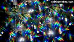 Desktop Hintergrund Weihnachtskugeln Regenbogen