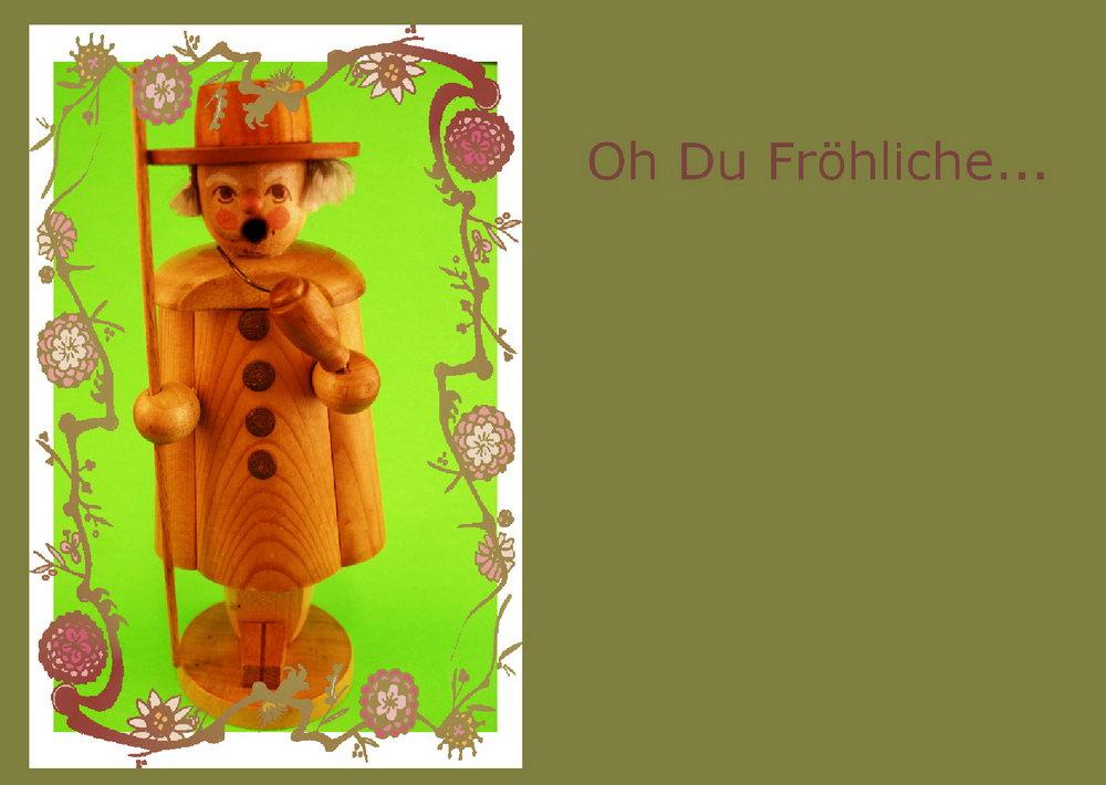 Frohe Weihnachten Karte, Nußknacker
