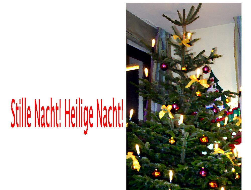 Frohe Weihnachten Karte, Weihnachtsbaum