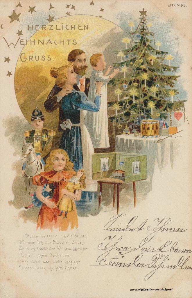 weihnachtsgr e aus der kaiserzeit gaidaphotos fotos und. Black Bedroom Furniture Sets. Home Design Ideas