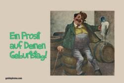 Geburtstagskarte, Mann, Bier, Säufer