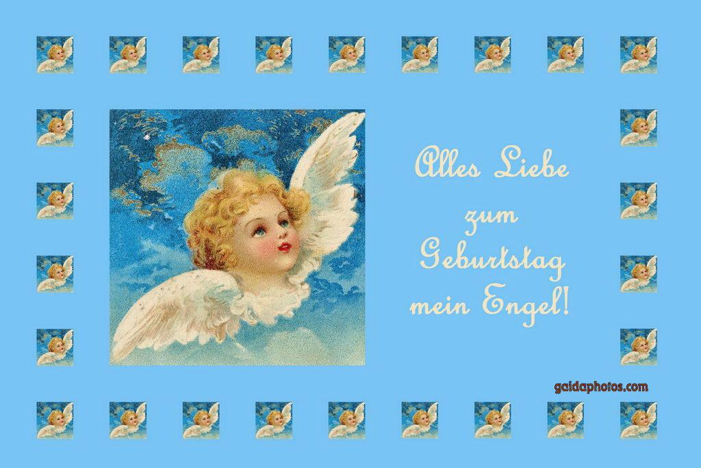 Geburtstagskartem Engel