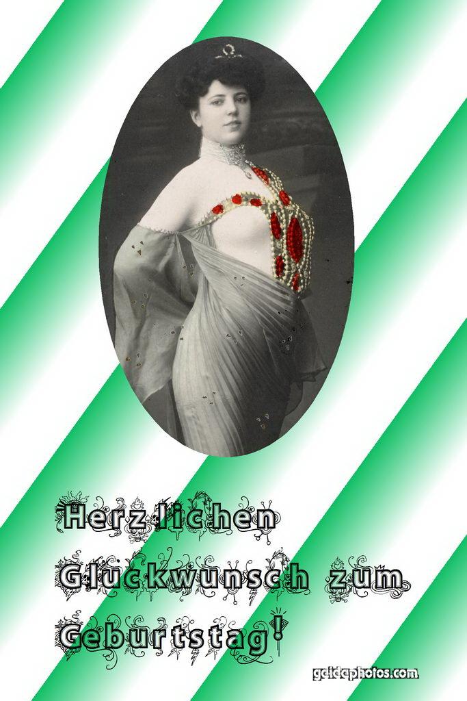 Geburtstagskartem Fraum Perlen