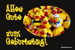 Geburtstagskarte, Ente, gelb