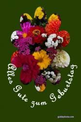 Geburtstagskarte, Blumenstrauss
