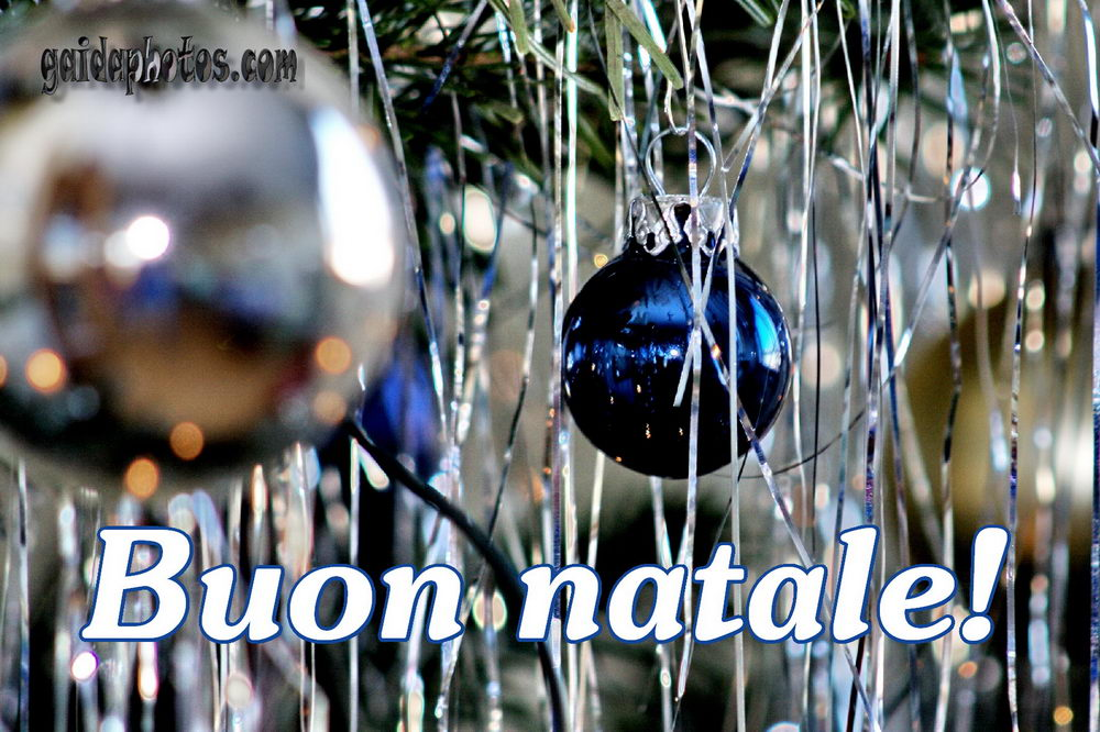 Italienisch frohe weihnachten und einen guten rutsch