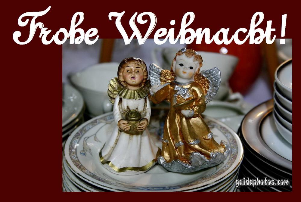 kostenlose Weihnachtskarten mit Engel