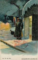 Weihnachtskarte: Eisenbahn
