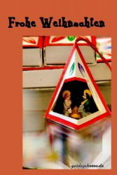 Weihnachtskarte Weihnachtskrippe