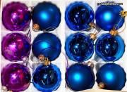 Weihnachtskugeln, Christbaumkugeln lila blau
