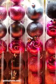 Weihnachtskugeln, Christbaumkugeln pink schwarz