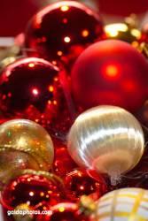 Weihnachtskugeln, Christbaumkugeln rot gold