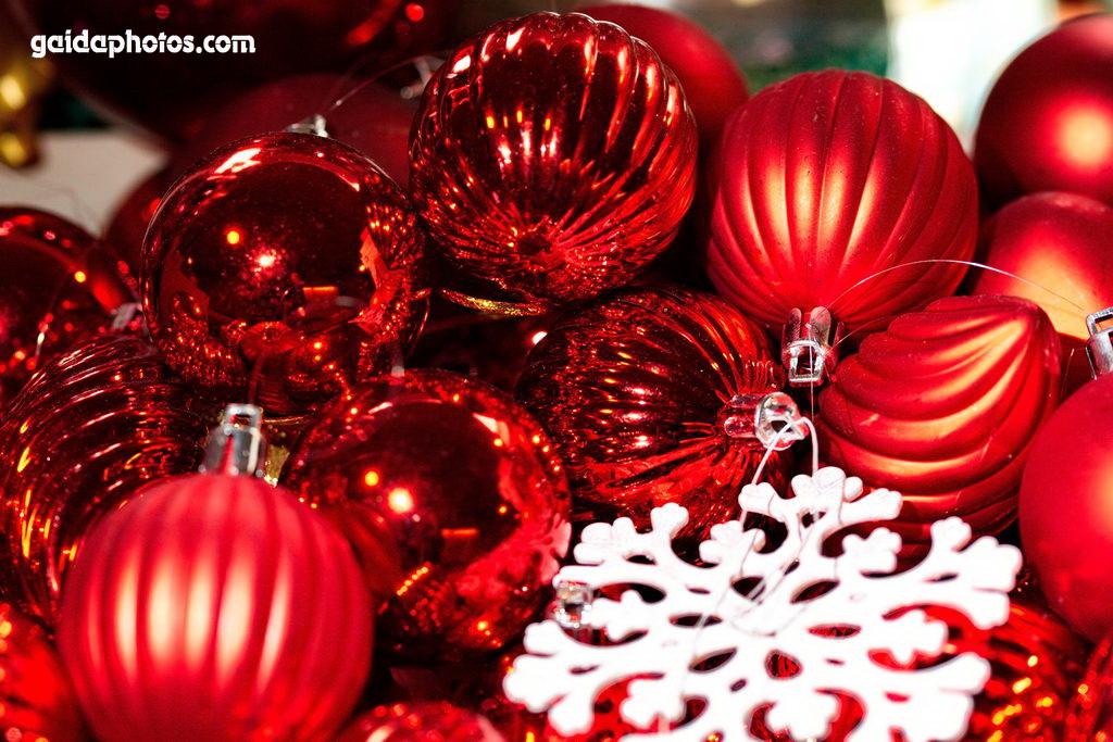 Weihnachtskugeln, Christbaumkugeln rot